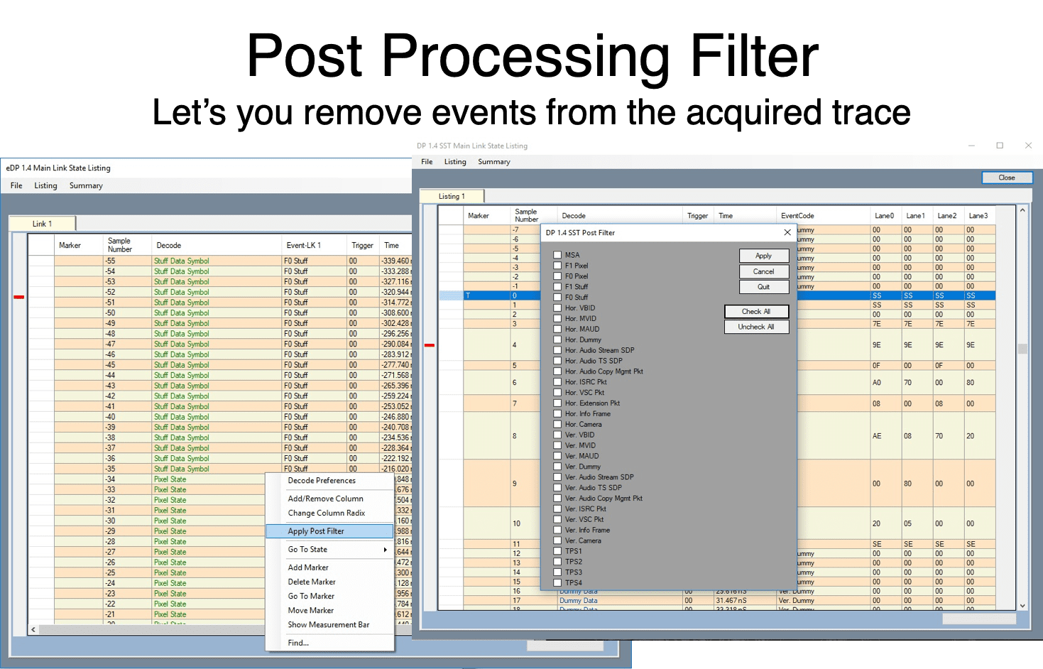Post Processing Filter